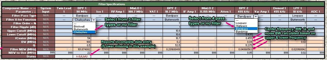Rf Cascade Workbook 2018 Wireless System Designer V100 Cafe. Filter Specifications Rf Cascade Workbook 2018 Wireless System Designer Cafe. Worksheet. Worksheet And Workbook Specifications And Limits At Mspartners.co