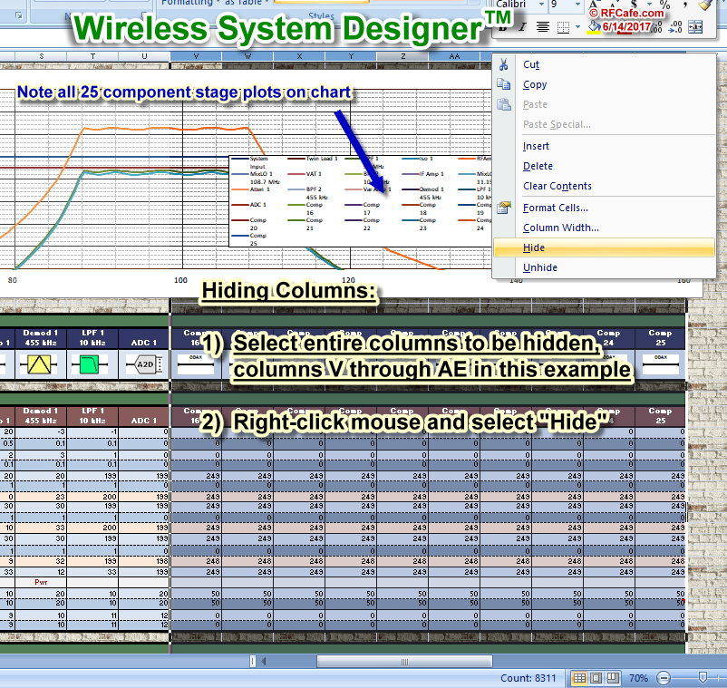 Rf Cascade Workbook 2018 Wireless System Designer V100 Cafe. Hide Columns Rf Cascade Workbook 2018 Wireless System Designer Cafe. Worksheet. Worksheet And Workbook Specifications And Limits At Mspartners.co