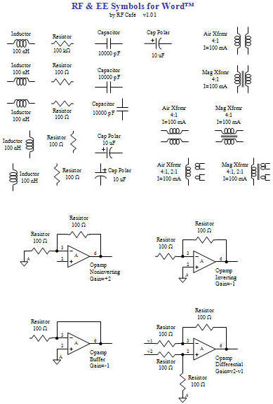 Rf  U0026 Ee Symbols For Word V1 01