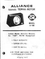 alliance u-100 tenna-rotor manual - rf cafe