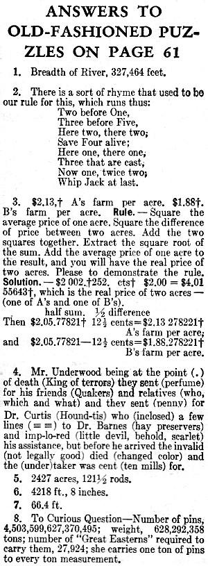Math Logic Puzzles (Kirt's Cogitation #304) - RF Cafe