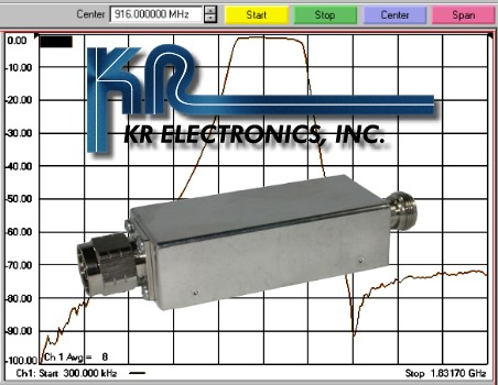 KR Electronics Intros 916 MHz Bandpass Filter for Positive Train