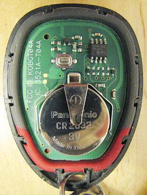 Chevrolet Remote Keyless Entry RKE Fob Teardown RF Cafe