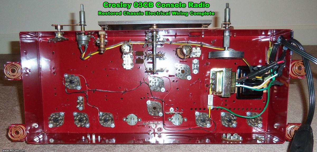 model cb crosley floor console radio restoration project crosley 03cb radio chassis wiring rf cafe