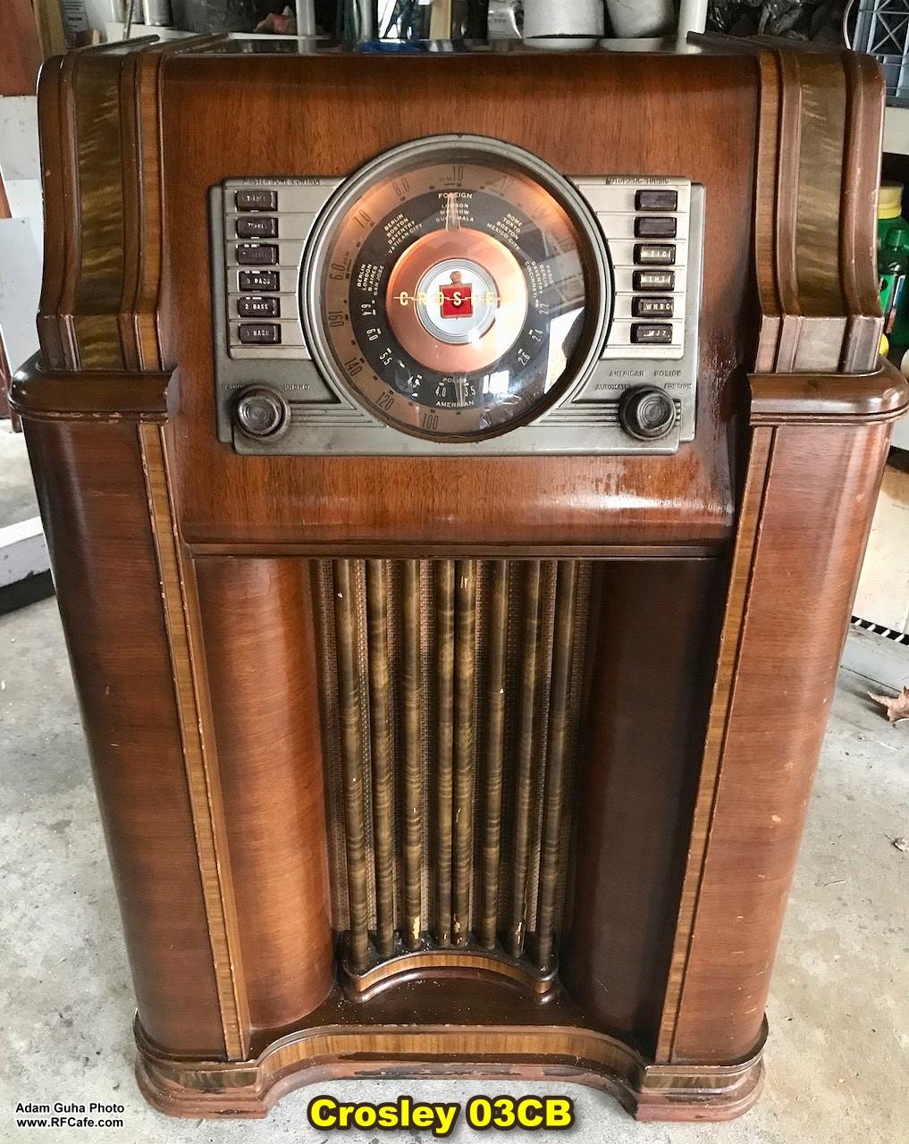 crosley 03cb floor console radio by adam guha
