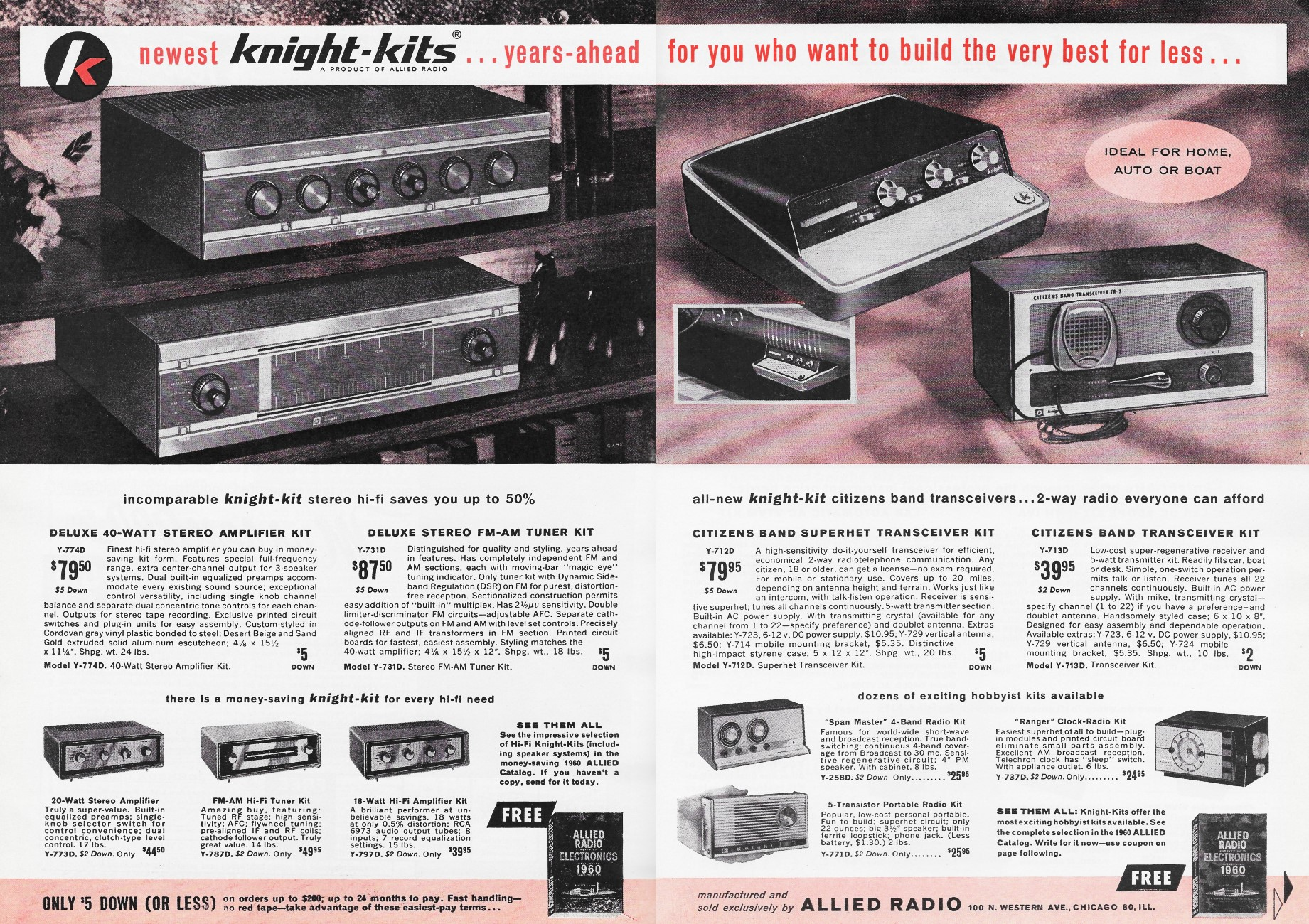 Allied Radio - Knight-Kits Advertisement, March 1960