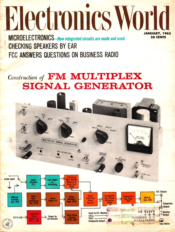 V L F  Loop Antenna, January 1963 Electronics World - RF Cafe
