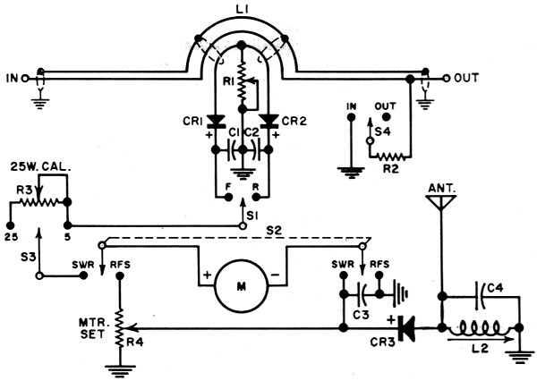 rf wattmeter schematic