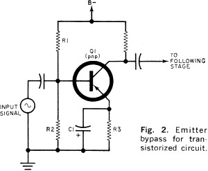 Bypass Capacitor Jan 1962 Popular Electronics also Stereo Tone Control With Lm1036 further Schmitt Trigger Circuit Design also Collection Power Audio Circuit For Headphone additionally Class B Bjt  lifiers. on audio amplifier circuit design