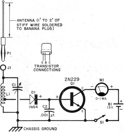 build a field strength meter september 1960 popular electronics rh rfcafe com field strength meter circuit diagram field strength meter circuit diagram
