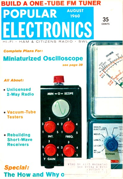 High Power Crystal Set, August 1960 Popular Electronics - RF