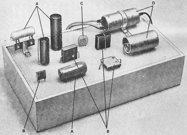 Capacitor know how simplifies electronic projects july 1966 popular in most cases it is possible to fit capacitors into a chassis rf cafe keyboard keysfo Images