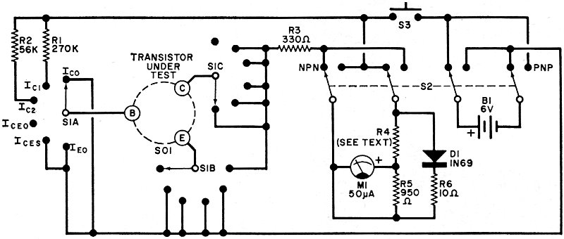 non destructive transistor tester, march 1971 popular diode symbol testing electronic components