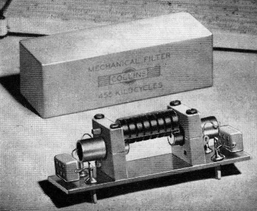 Mechanical Bandpass Filters for I F  Ranges, February 1953 QST - RF Cafe
