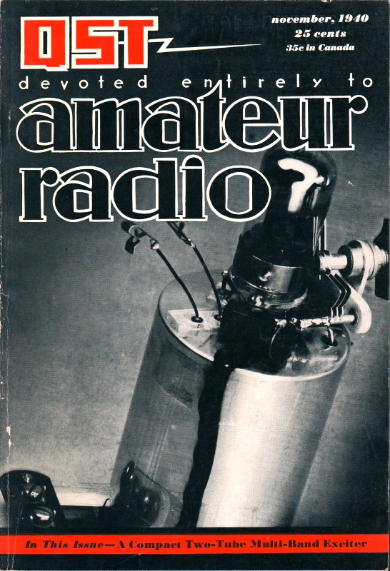November 1940 QST Table of Contents - RF Cafe