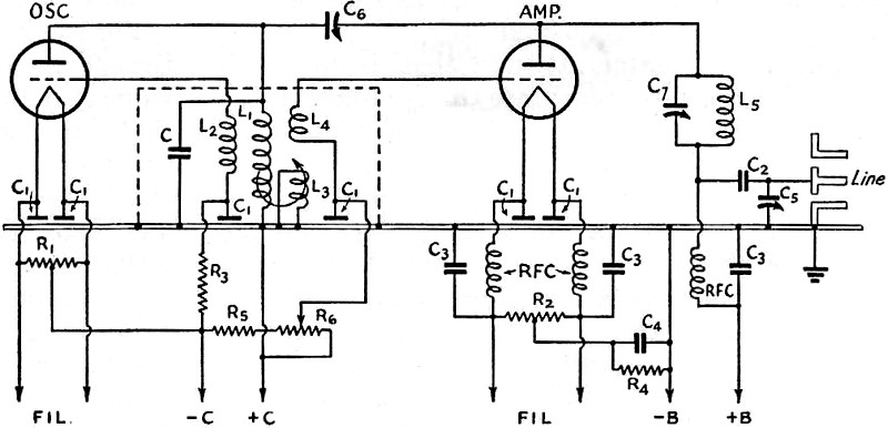 High q tank circuit for ultra high frequencies september 1939 qst 5 the schematic wiring diagram of the 5 and 2 12 meter transmitters shown with the output arranged for connection to a coaxial line ccuart Choice Image