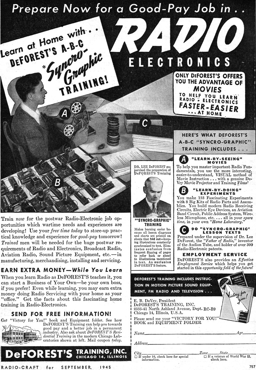 de forests syncrographic training ad september 1945