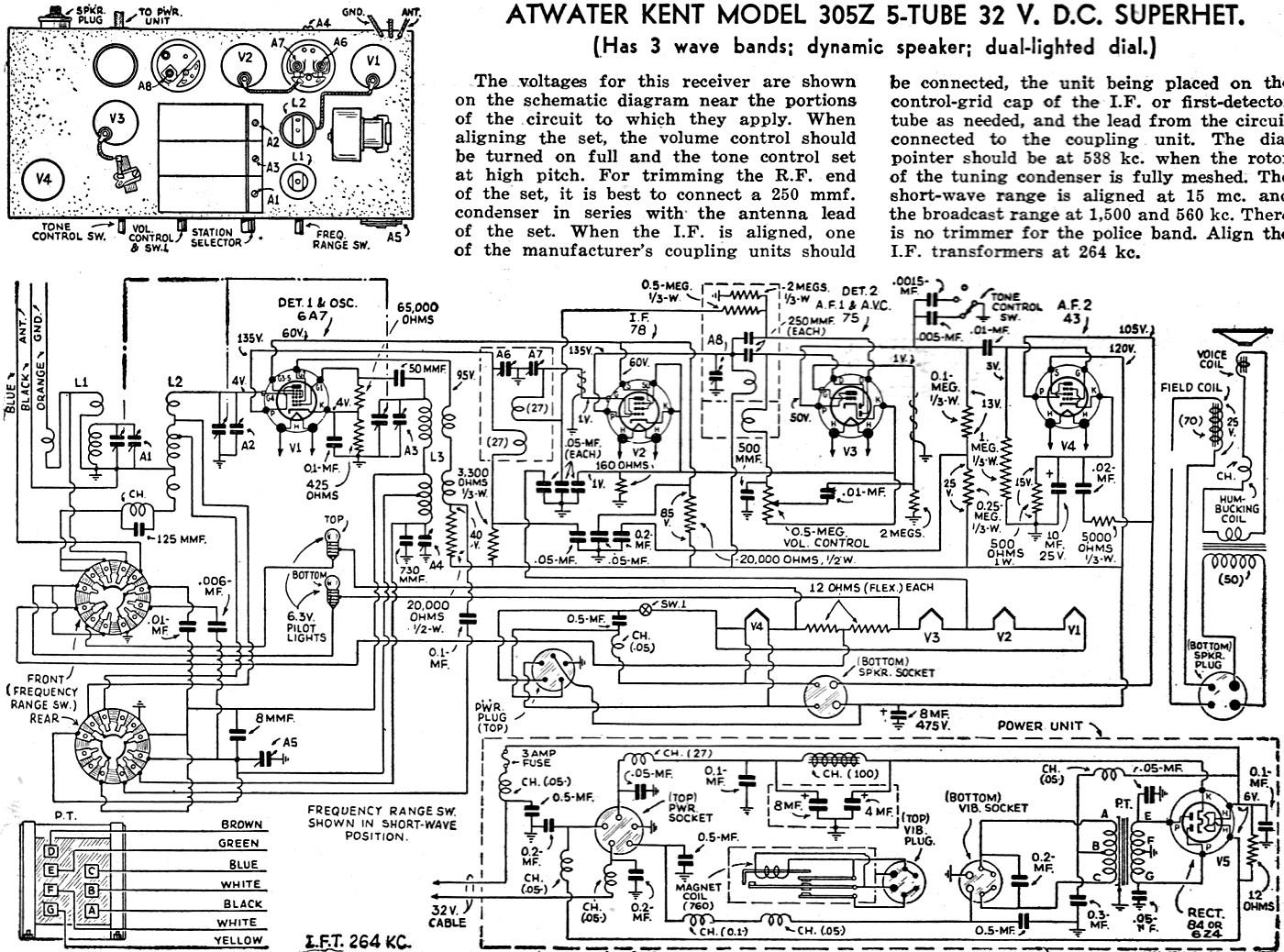 Atwater Kent Model 305z 5