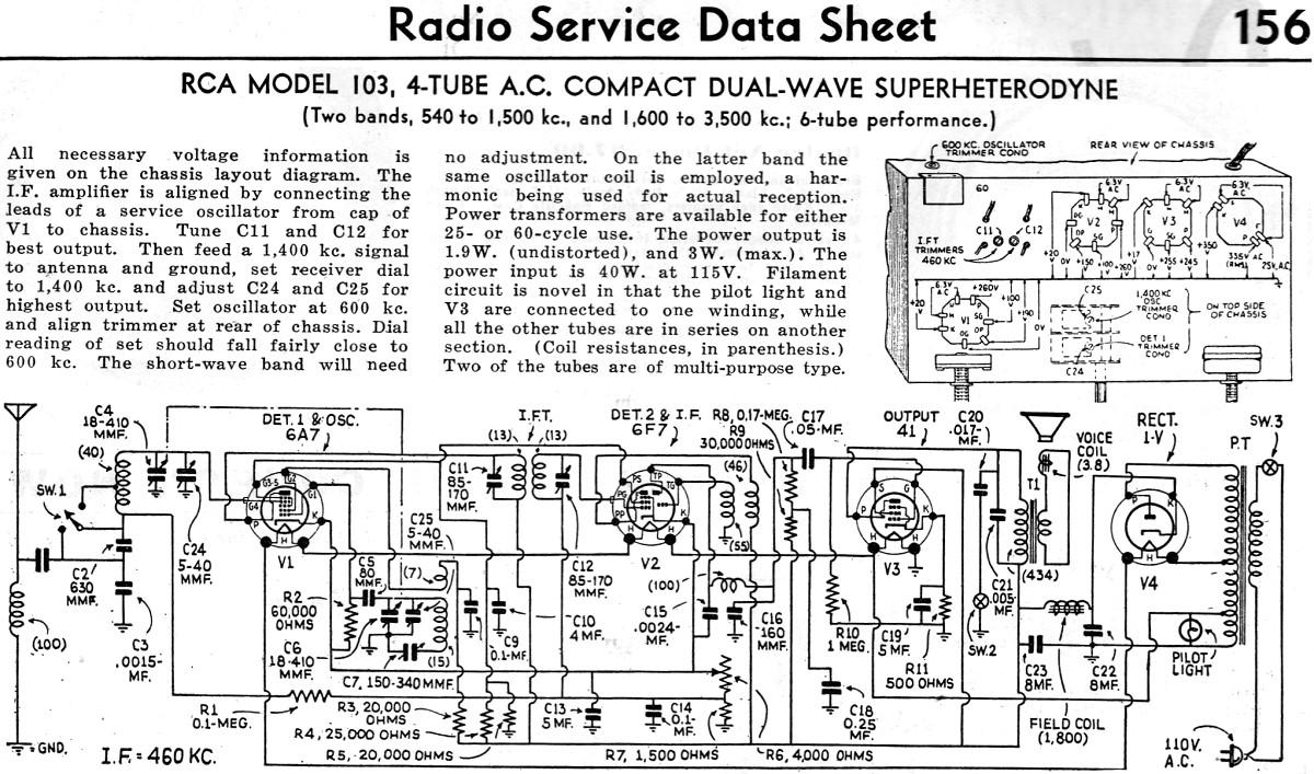 Rca Model 103  4