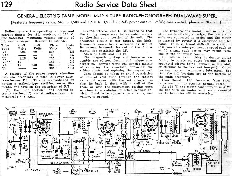 RCA Victor Model 102 4-Tube A C -D C  T R F  Receiver Radio