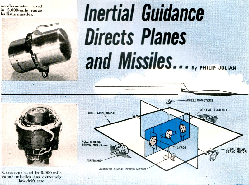 Inertial Guidance Directs Planes And Missiles December 1958 Radio Electronics