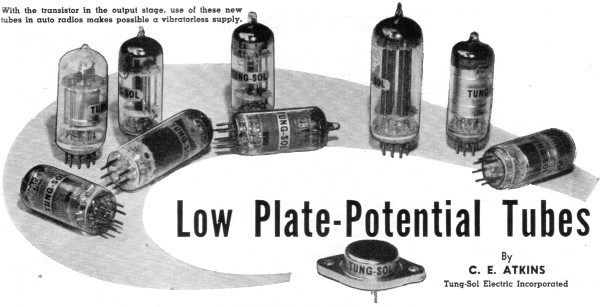 low plate potential tubes january 1957 radio television news rf