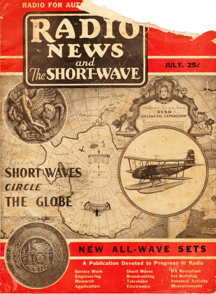 Listening to Byrd on Short-Wave Radio, July 1934 Radio News and the
