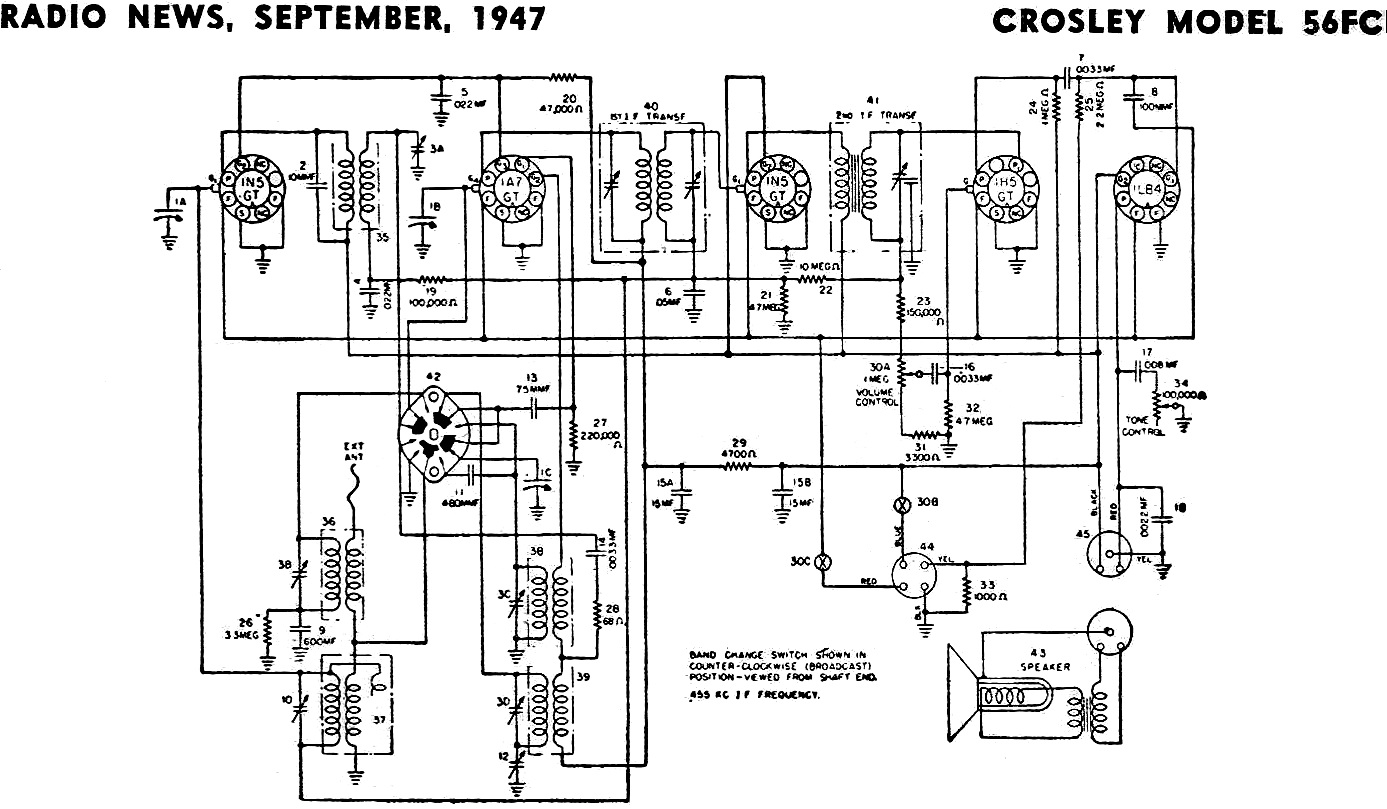 Crosley Model 56fc  September 1947 Radio News
