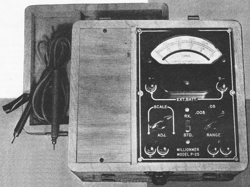 Ohmmeter Good Measurements And A High Low : The vacuum tube volt ohm meter vtvm