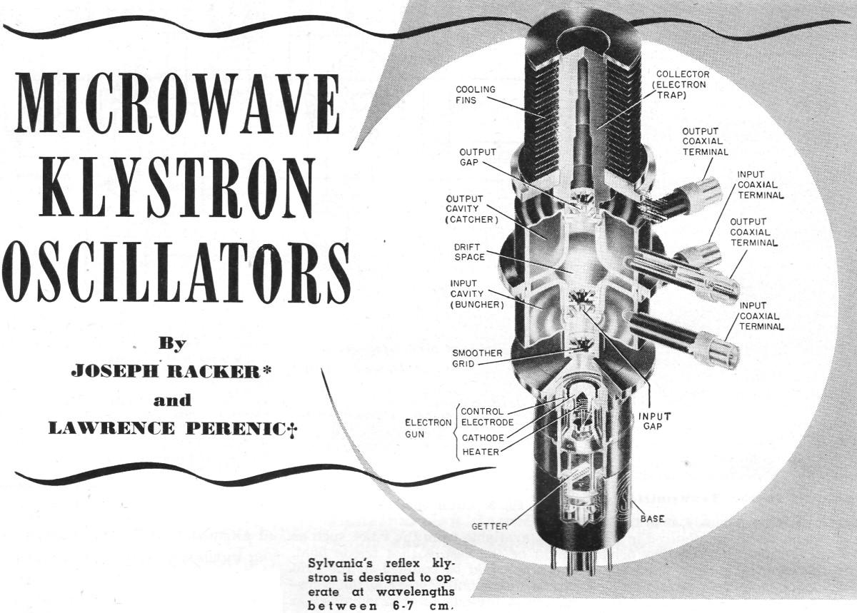 Microwave Klystron Oscillators  April 1952 Radio