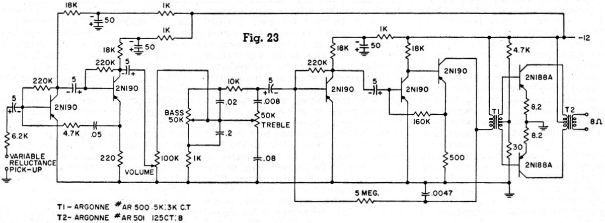negative feedback transistor amplifiers  may 1957 radio
