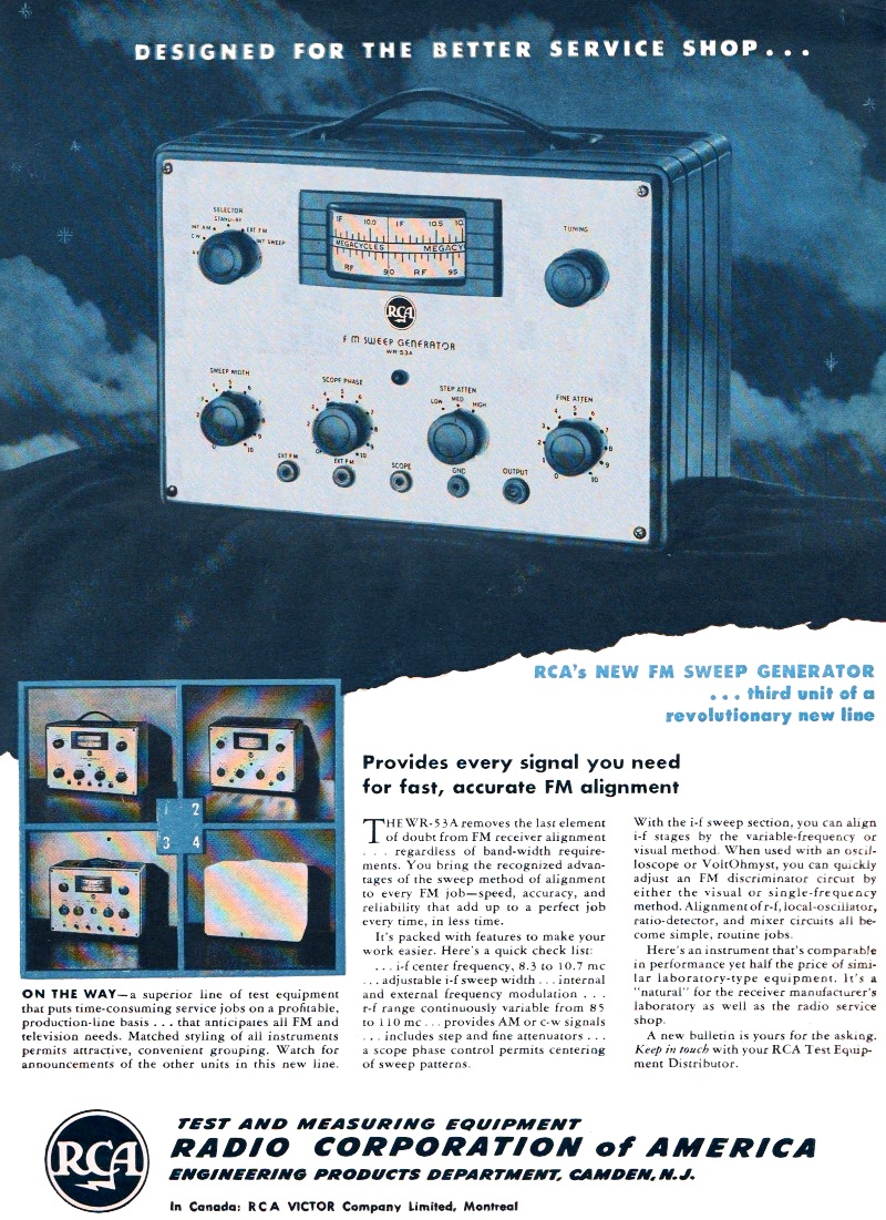 Business & Industrial RCA WR-53A FM Sweep Generator manual Test ...