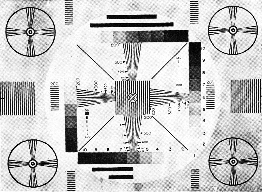 The Television Test Pattern January 60 Radio Television News Impressive Test Pattern
