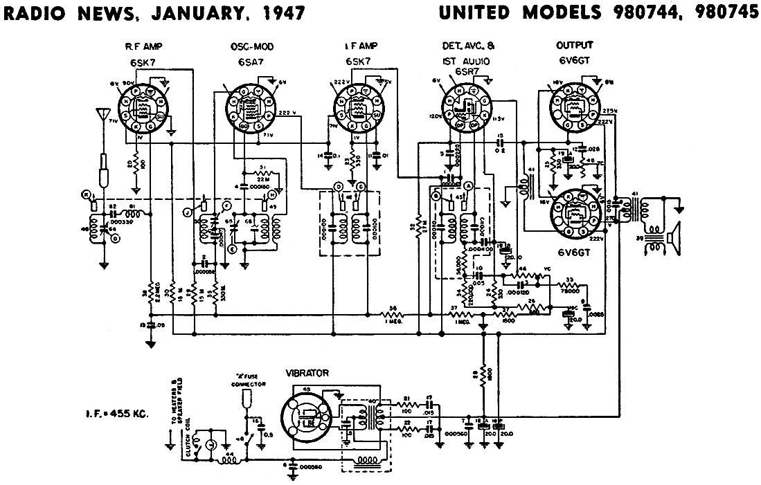 united models 980744  980745 schematic  u0026 parts list
