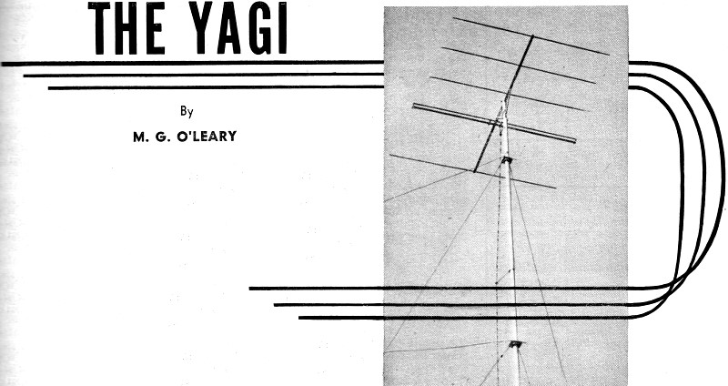 over-all view of the author's homebuilt yagi antenna - rf cafe