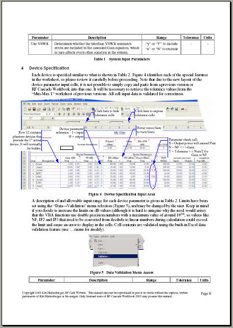 Rf Cascade Workbook 2003 User U0026 39 S Guide Pages