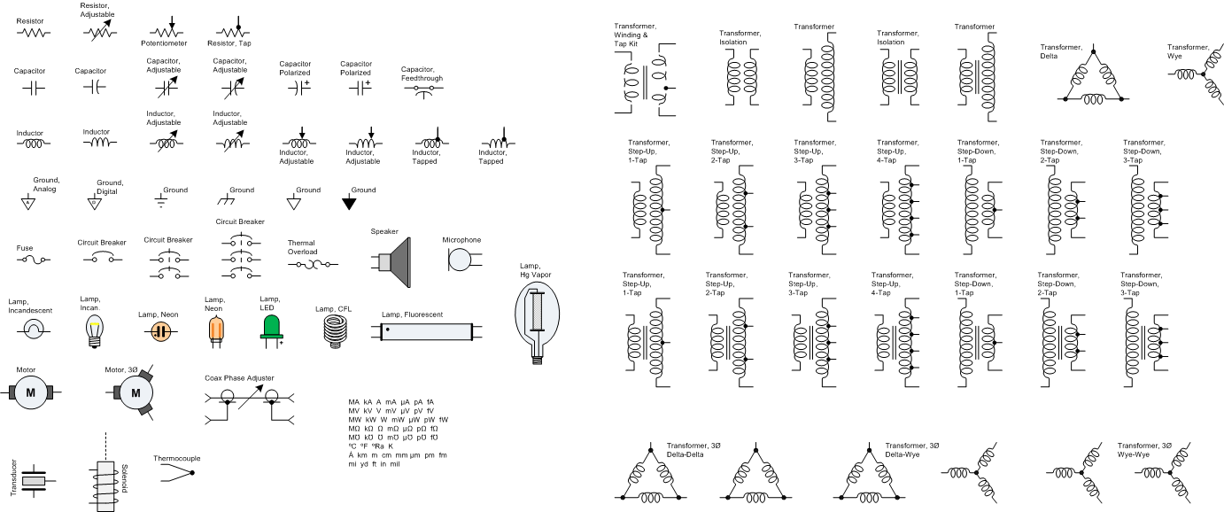 Rf Microwave Wireless Analog Block Diagrams Stencils Shapes For Diagram Maker Resistors Capacitors Inductors Transformers Visio Cafe