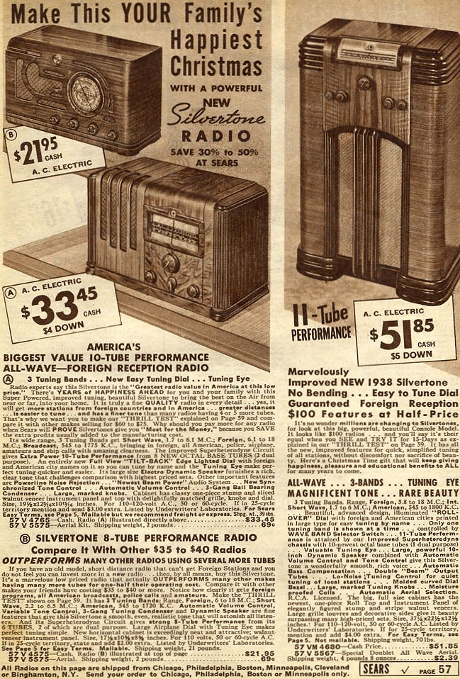 Radios Advertisements From Vintage Department Store Christmas Catalogs Rf Cafe
