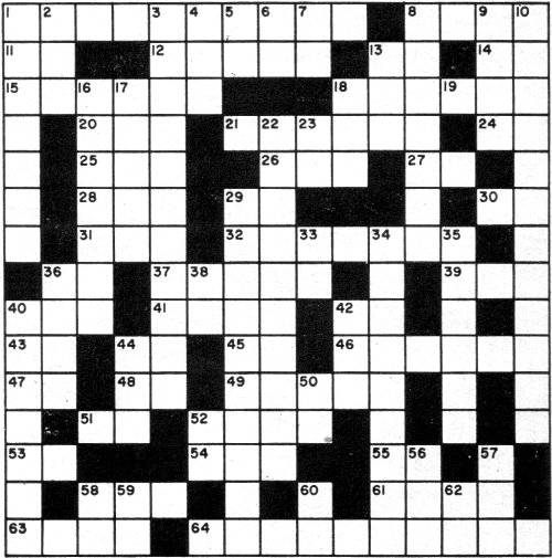 Electronic Terminology Crossword Puzzle, October 1960 ...