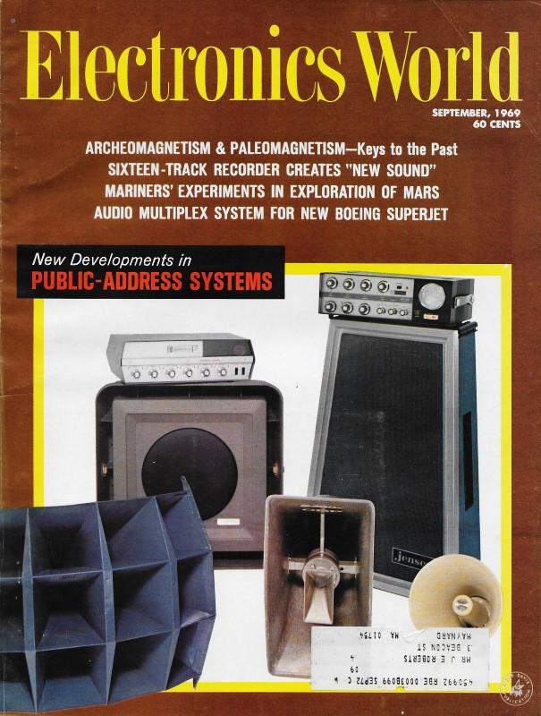 Electronics Themed Comics September 1969 Electronics