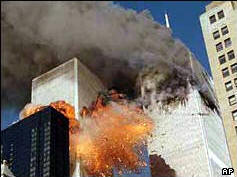 9/11 terrorist attack - twin towers of the World Trade Center
