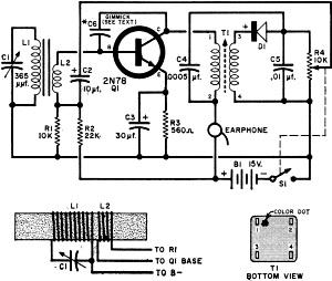 one transistor pocket radio  july 1960 popular electronics