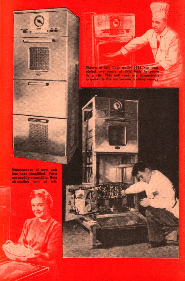The Amana Radarange March 1955 Popular Electronics Rf Cafe