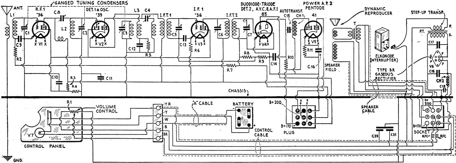 Galvin Motorola Model 61 Automotive Receiver October 1932 Radio Dodge Wiring Diagram Schematic Craft Rf Cafe