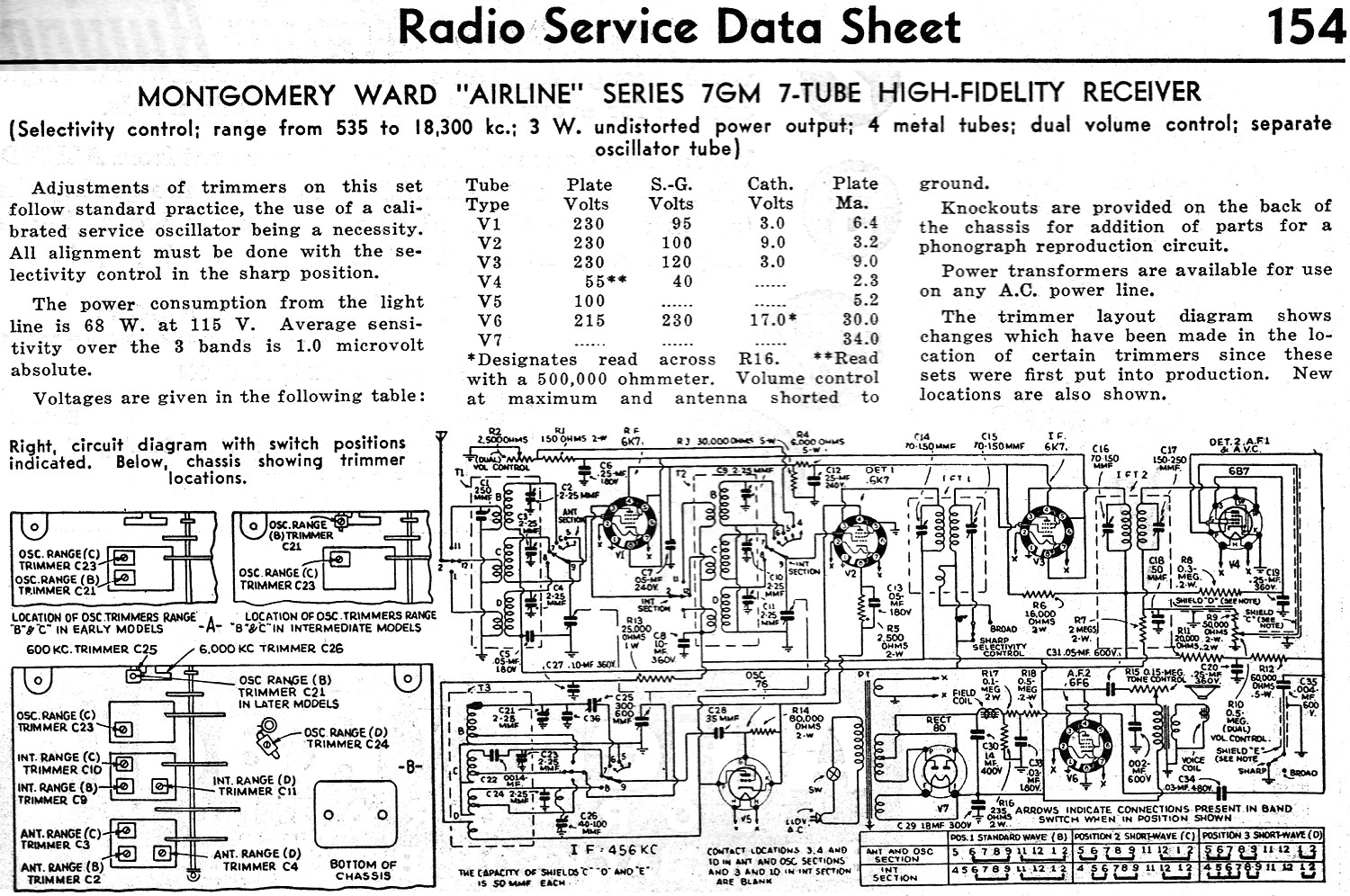 Tube Radio Schematic on air king, for model 6a66 sparton antique, rca victor 16x4, hybrid car, for unison high fidelity,