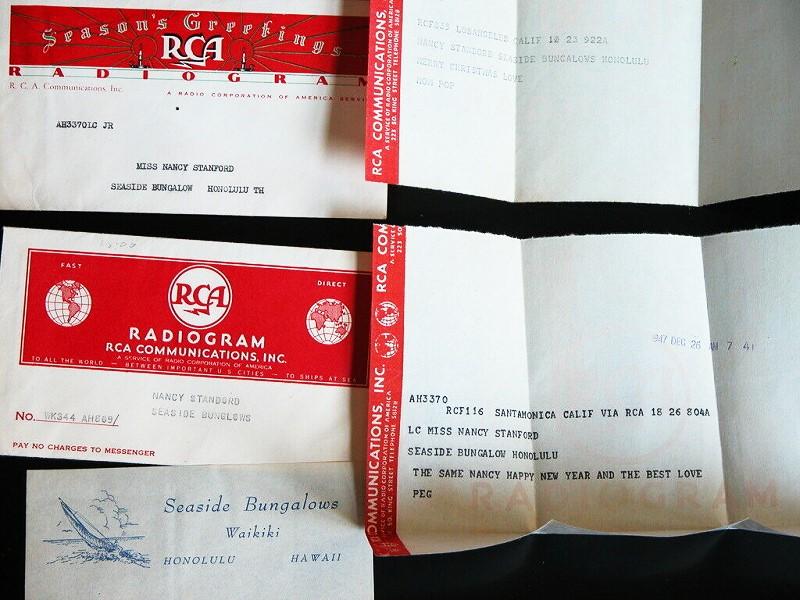 Vintage radiogram RCA Communications Radio Corporation of America unused n-mint