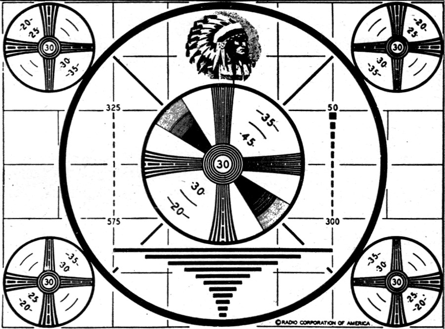 the television test pattern  january 1949 radio